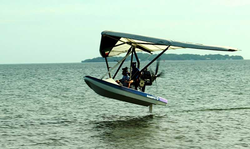 Ultra-Light Flying Boas taking off at Subic Bay