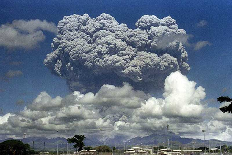 Mount Pinatubo Eruption - Mushroom Cloud