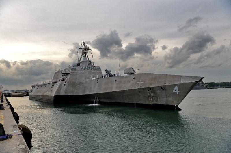USS Coronado at ALAVA Pier Subic Bay