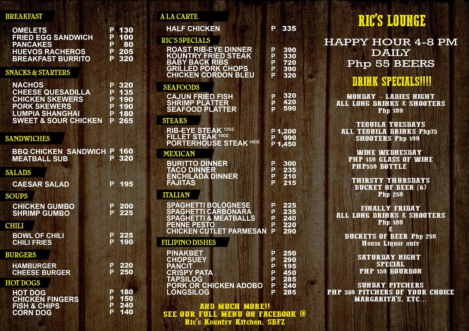 Hot S Kitchen Menu Prices