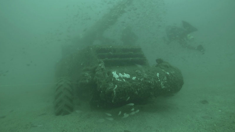 US Tank found at one of the dive sites