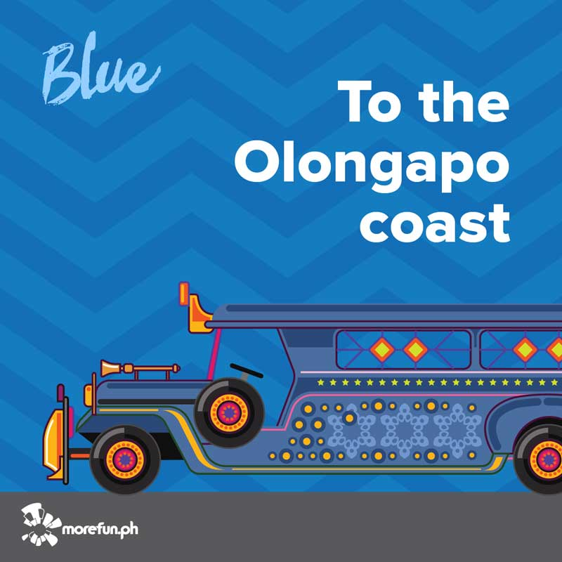 Olongapo Blue Color Jeep
