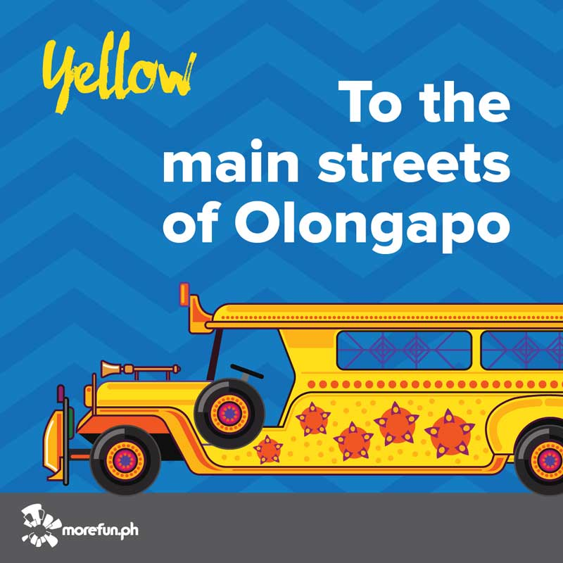 Olongapo Yellow Color Jeep