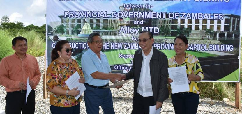 MoU for New Zambales Capitol