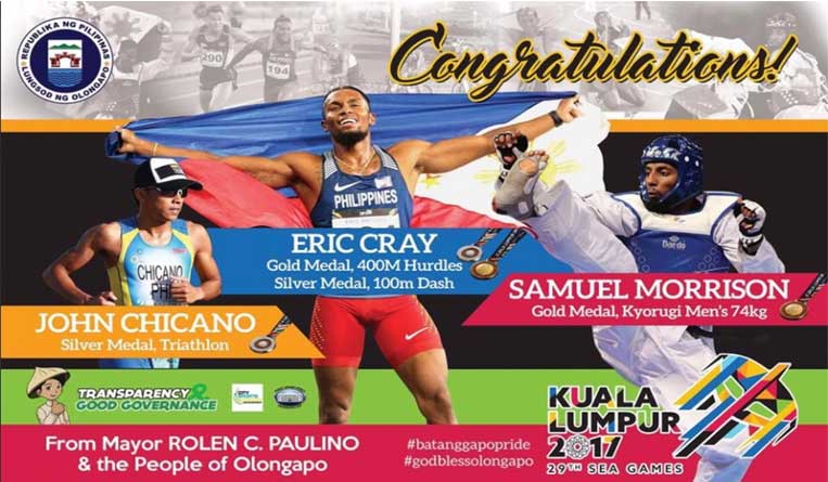 Olongapo Athletes bring home 2 Golds, 2 Silver during SEA GAMES