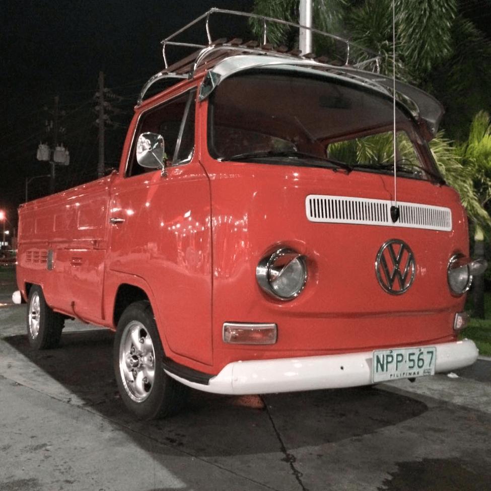 Daniel's orange dropside T2 Volkswagen Type 2